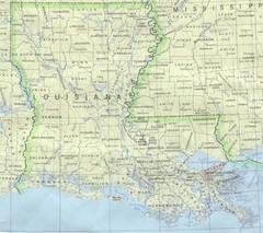 Louisiana Tourist Map