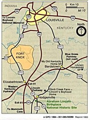 Louisville National Parks Map