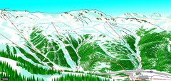 Loveland North View Ski Trail Map