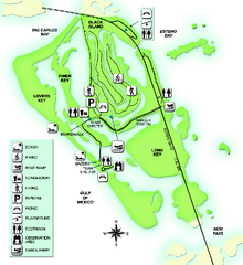 Lovers Key State Park Map