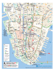 Lower Manhattan Public Transportation Map