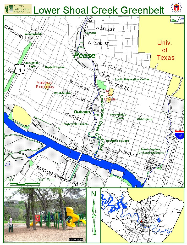 Lower Shoal Creek Greenbelt Map 2799 Lamar Blvd Austin