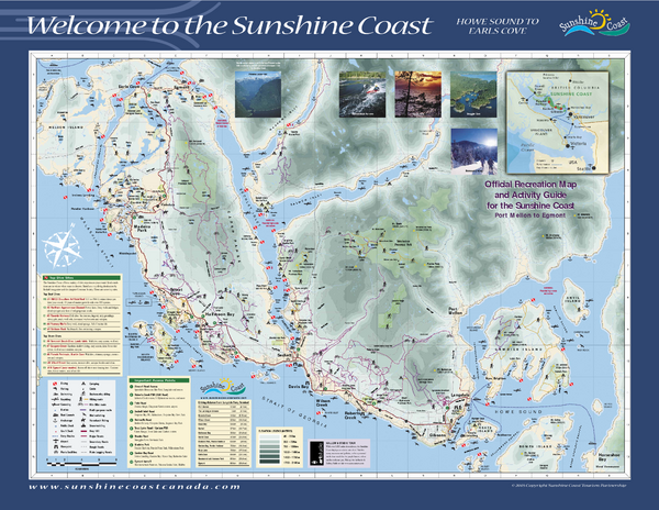 Lower Sunshine Coast Recreation Map