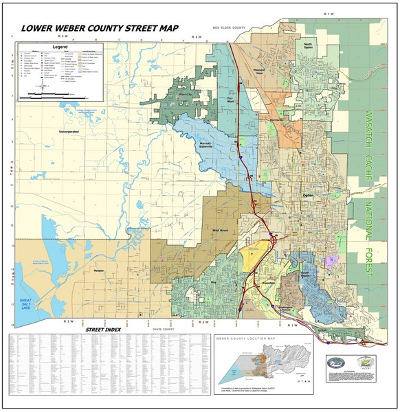Lower Weber County Street Map