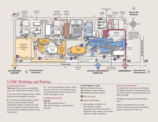University Hospital Main Campus Map.Loyola University Medical Center Map 2160 S First Ave Maywood Il