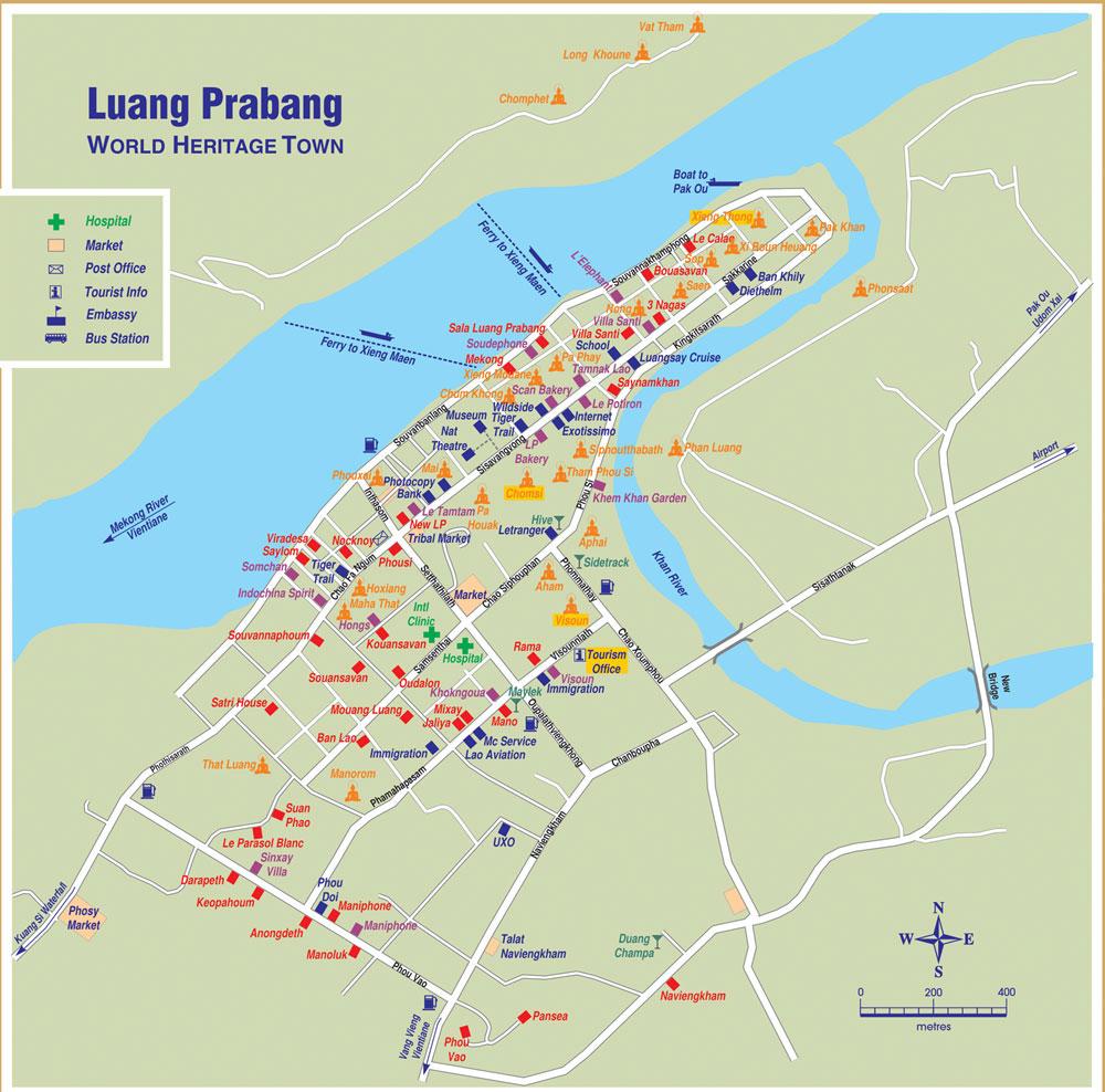 Luang Prabang Laos  City pictures : Luang Prabang City Map See map details From luang prabang hotels.com ...