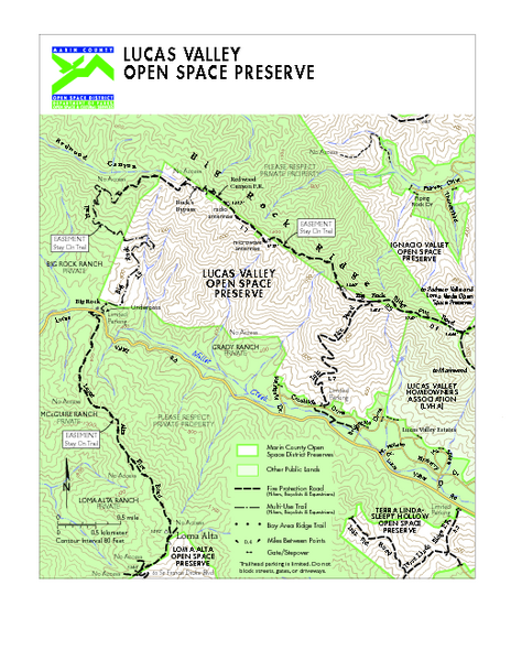 Lucas Valley Open Space Preserve Map