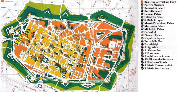 Lucca Tourist Map Lucca Italy mappery – Tourist Map Of Italy