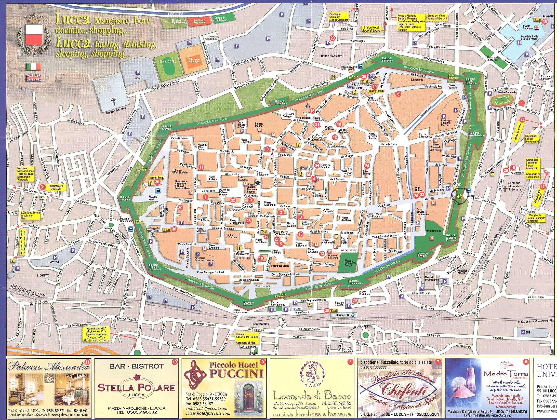 Lucca map see map details