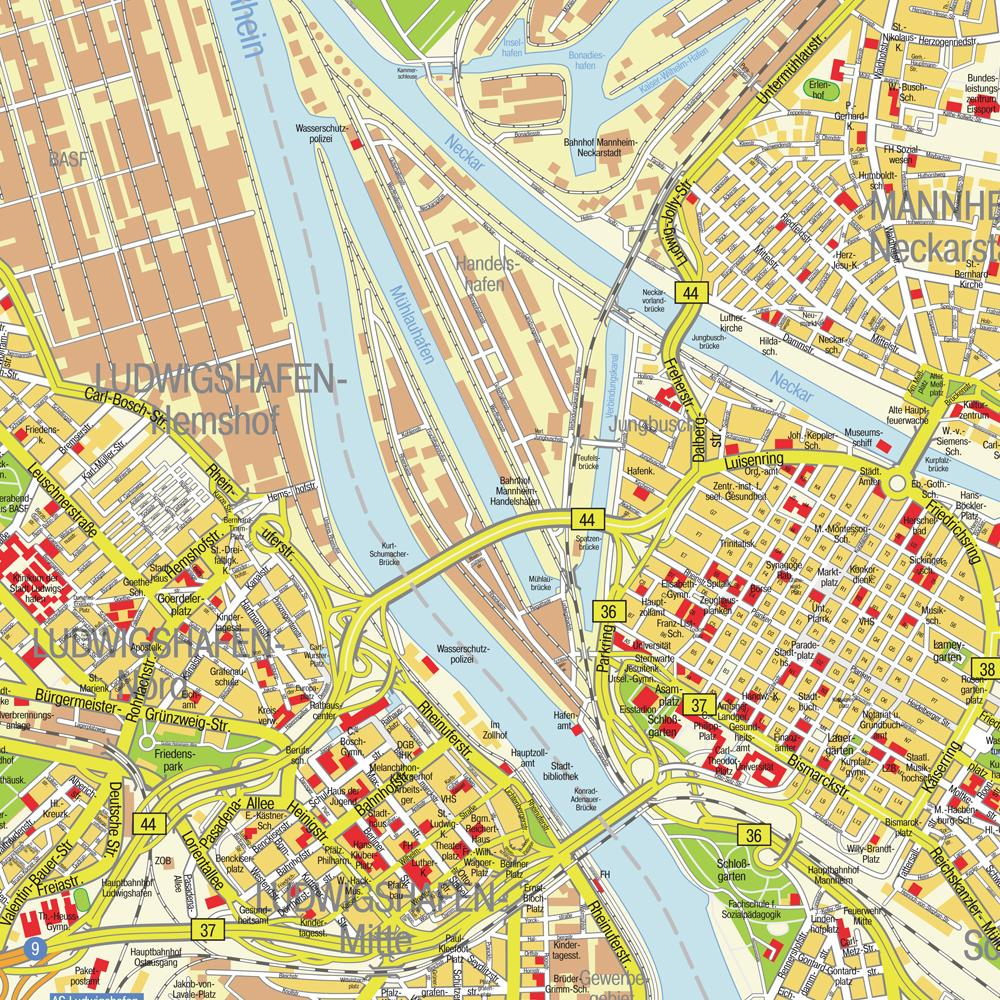 Ludwigshafen Germany  city pictures gallery : Ludwigshafen City Map Ludwigshafen Germany • mappery