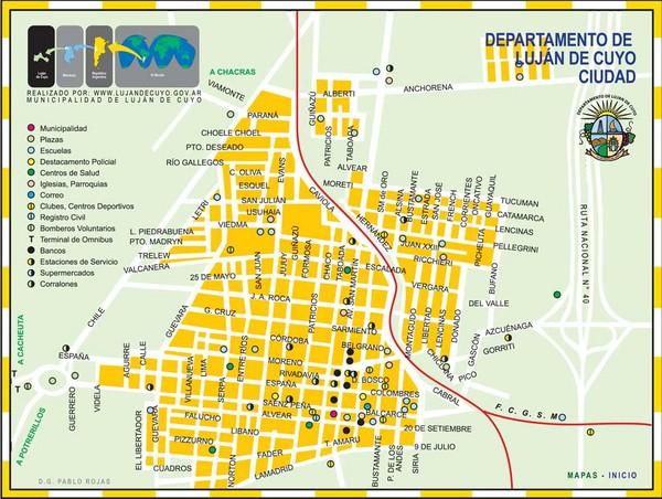 Lujan de Cuyo Tourist Map Lujan de Cuyo Mendoza Argentina mappery – Tourist Map of Argentina
