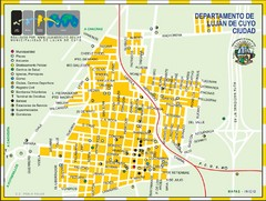 Lujan de Cuyo Tourist Map