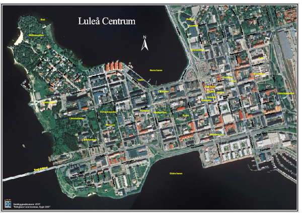 Lulea Center Aerial Map