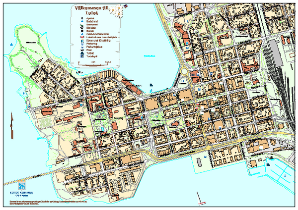 Lulea City Map Lulea Sweden Mappery - Sweden map pdf