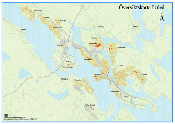 Lulea Overview Map