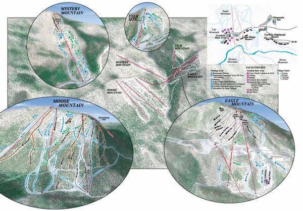 Lutsen Mountains Ski Trail Map