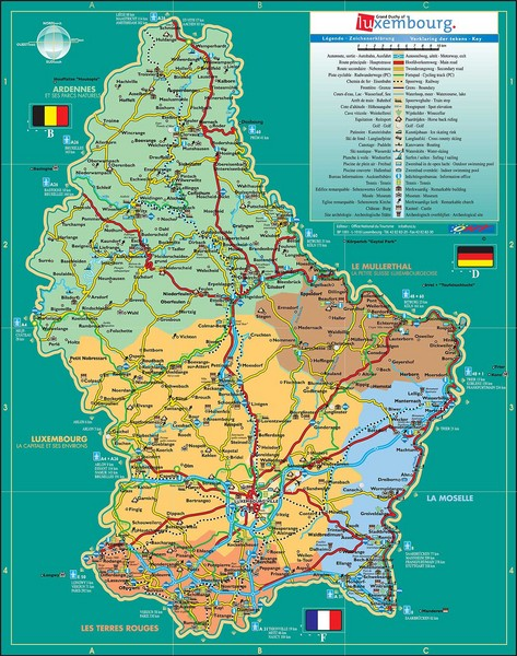 Luxembourg Tourism Map