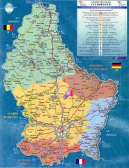 Luxembourg Tourist Map