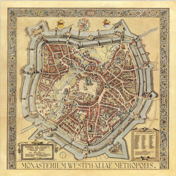 Münster City Map 1636