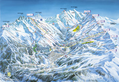 Méribel-Mottaret Ski Run Map