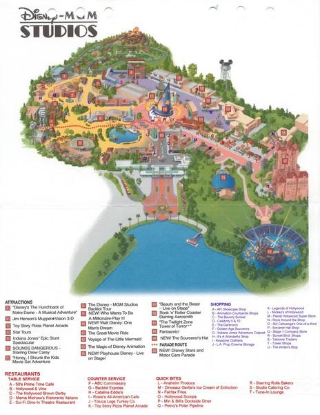 MGM Studios Map - Lake Buena Vista FL • mappery