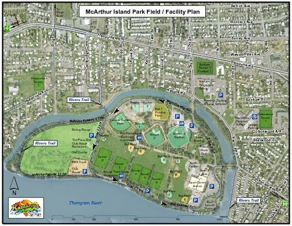 MacArthur Island Park Map - Kamloops BC • mappery
