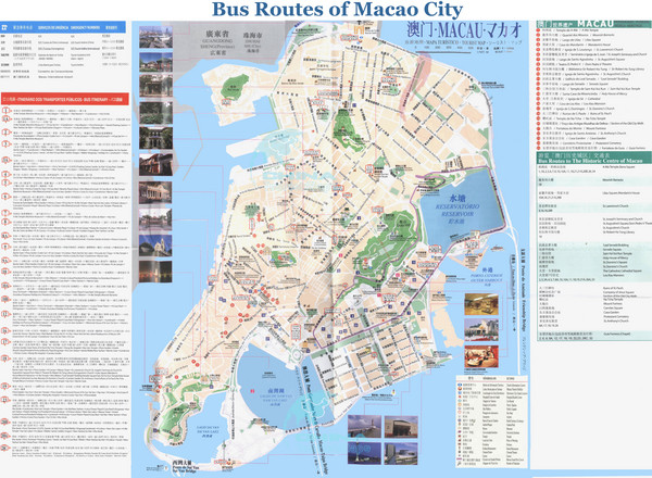 Macao City Bus Map