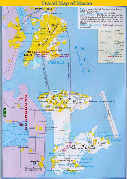 Macao Tourist Map