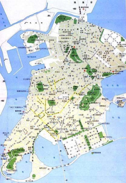 Macau Map Macau Mappery - Macau map