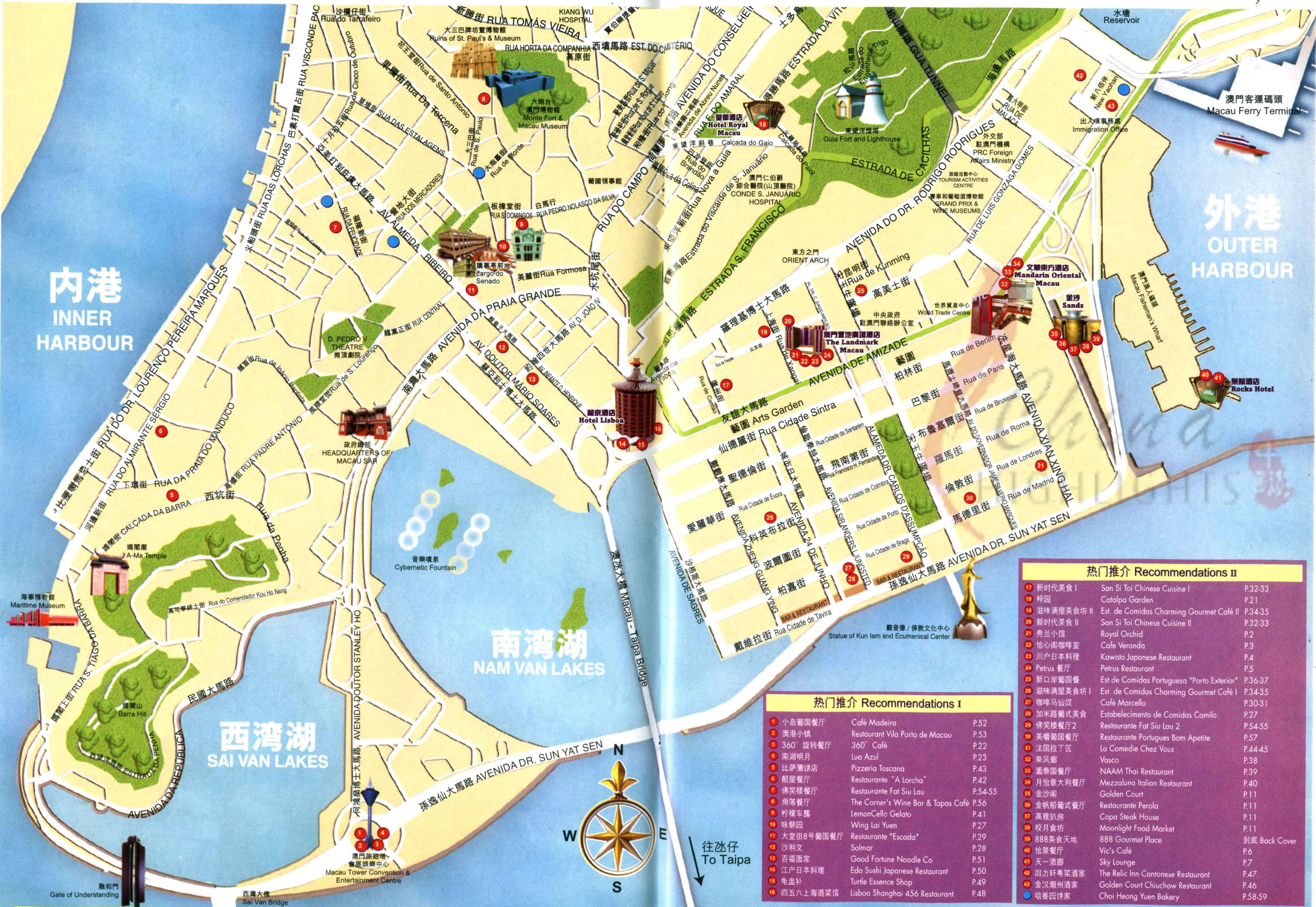 macau tourist map macau u2022 mappery