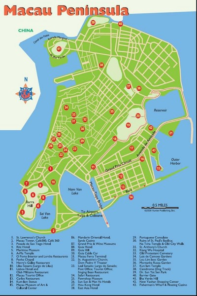 Macau Tourist Map