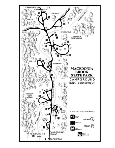 Macedonia Brook State Park campground map
