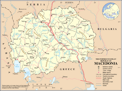 Macedonia Overview Map