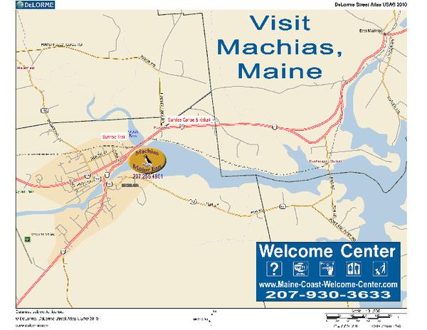 Machias Maine Usa Map Machias Maine Mappery