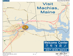 Machias, Maine, USA Map