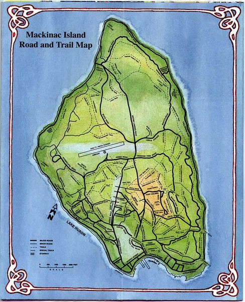 Mackinak Island Road and Trail Map
