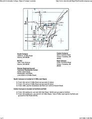 Occ Southfield Campus Map.Lakeport State Park Michigan Site Map Lakeport State Park Michigan