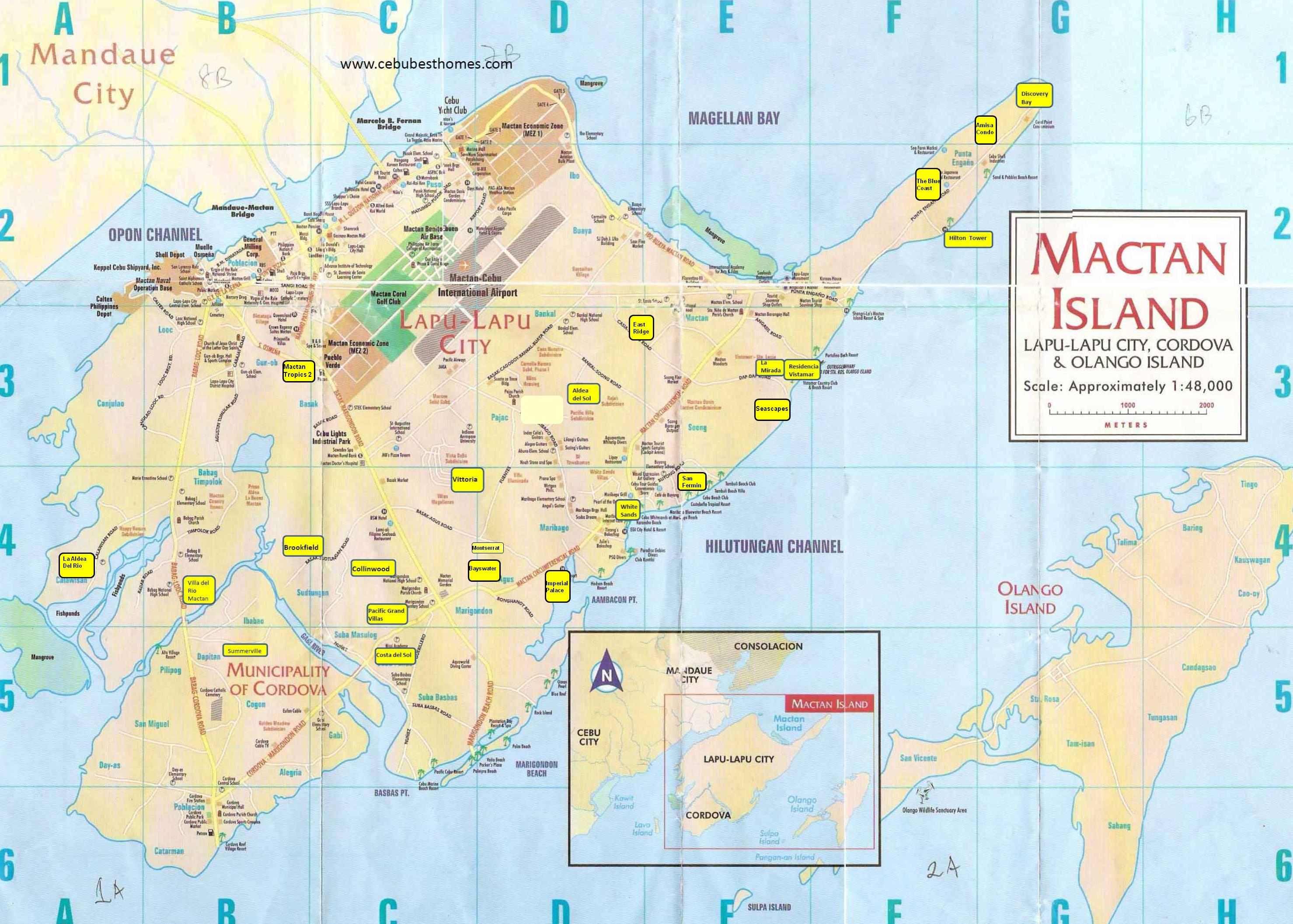 Mactan Island Philippines  city photo : Mactan Island Tourist Map Mactan Island • mappery