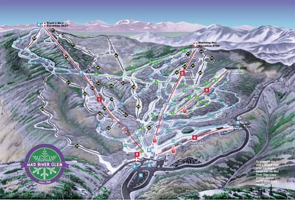 Mad River Glen Ski Trail Map