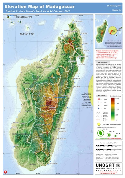 Madagascar Elevation Map Madagascar Mappery - Madagascar map