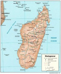 Madagascar Roads and Trains Map