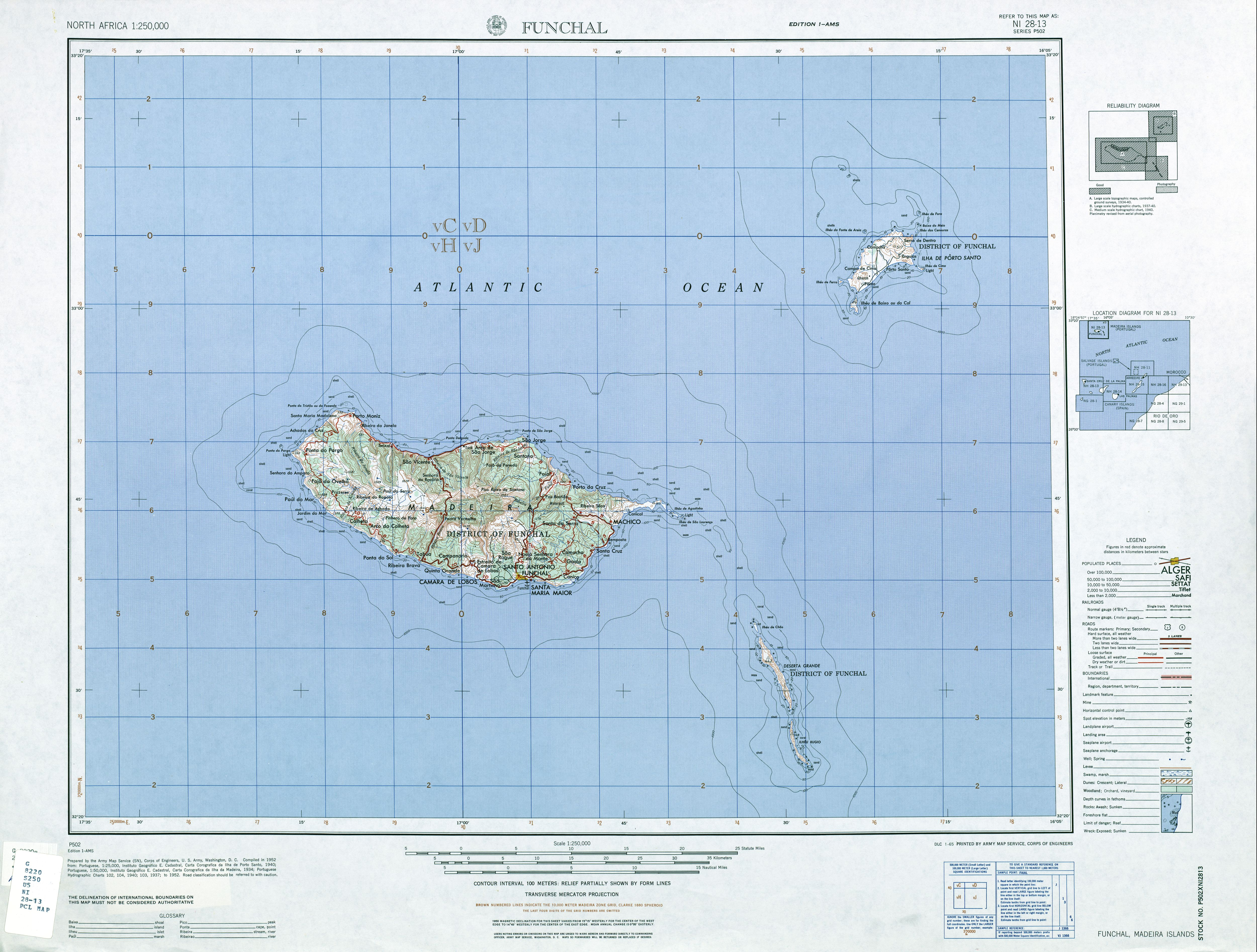 Madeira Country Map Madiera Mappery - Portugal map madeira