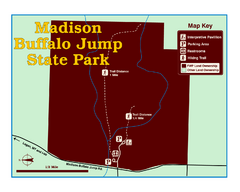 Madison Buffalo Jump State Park Map