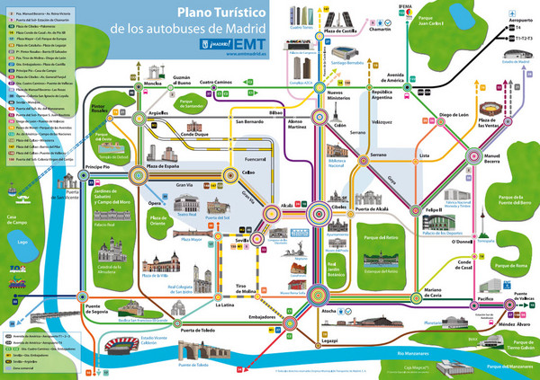 Madrid Bus Tourist Map Madrid Spain mappery – Tourist Map of Madrid