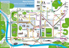 Madrid Bus Tourist Map