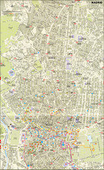Madrid City Center Map
