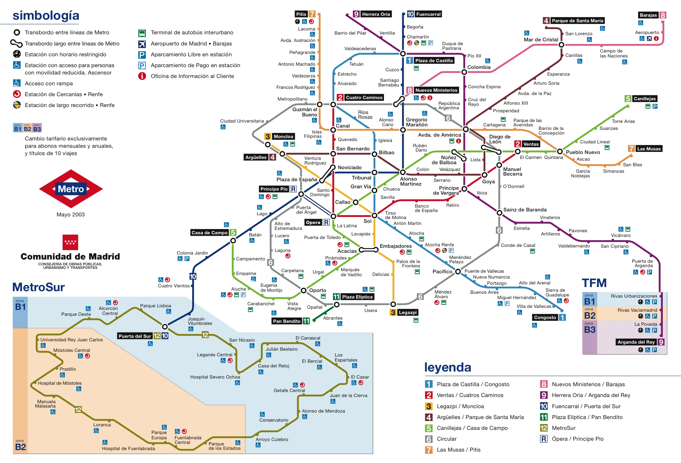 Madrid Metro Map - Madrid • mappery