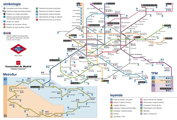 Madrid Metro Map  Madrid  mappery