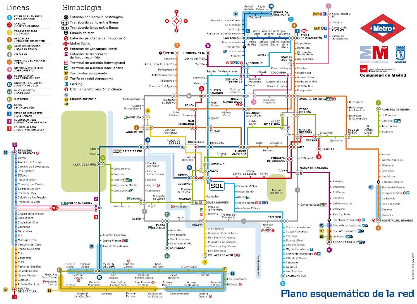 Madrid Metro Map - Madrid Spain • mappery