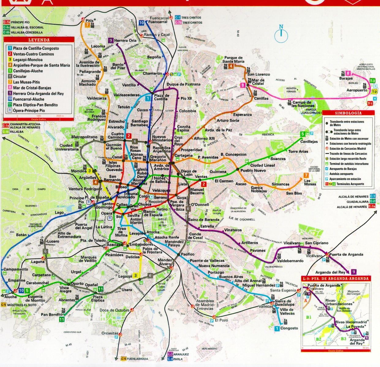Madrid Transit Map  Pitis  mappery